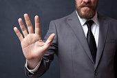 Businessman Showing Five Finger