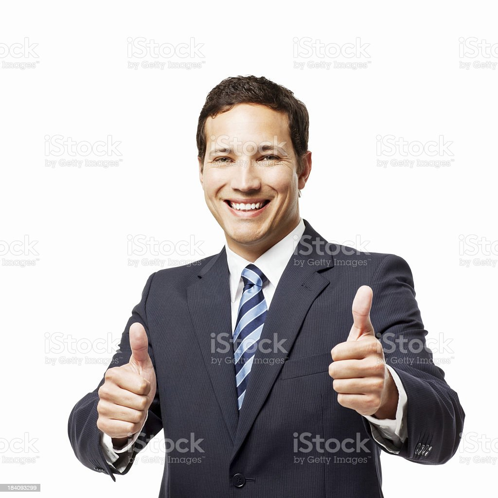 Businessman Showing His Approval - Isolated royalty-free stock photo