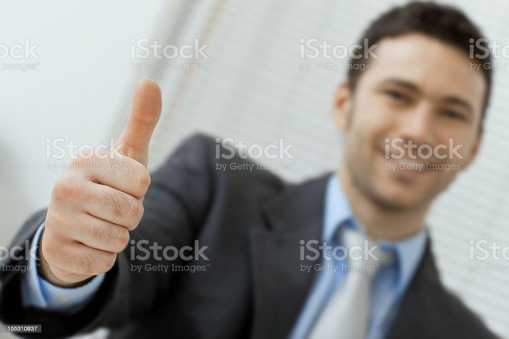 Businessman showing OK royalty-free stock photo