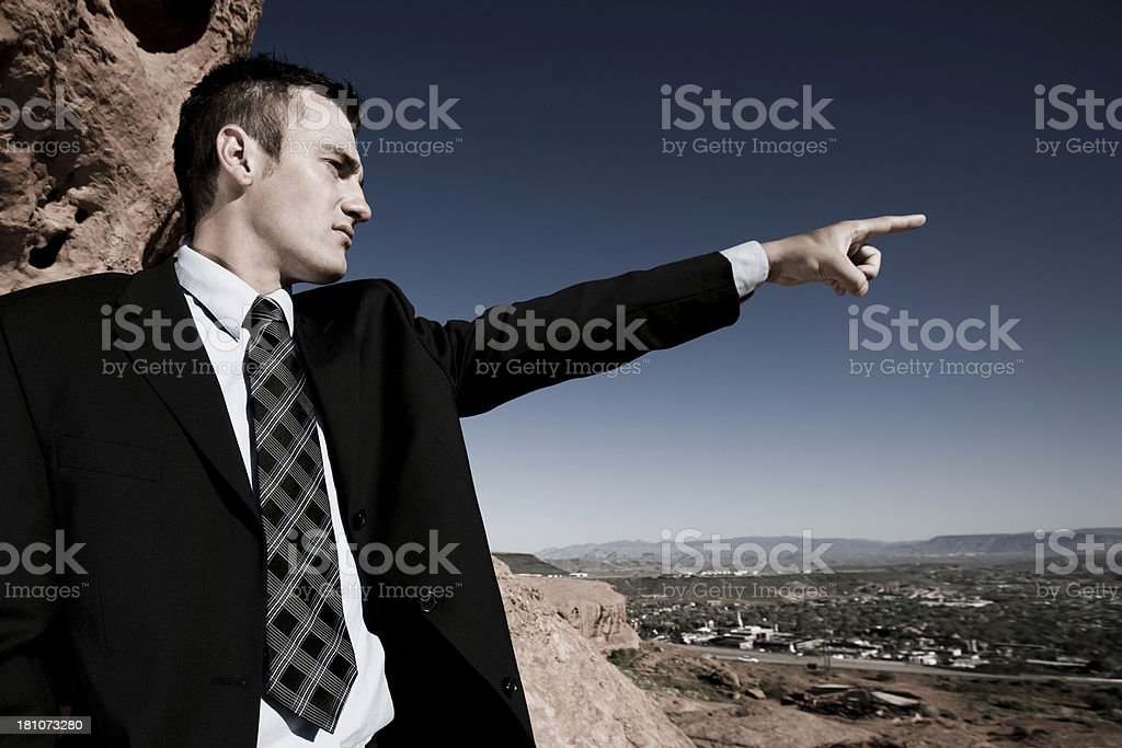Businessman showing the direction. royalty-free stock photo