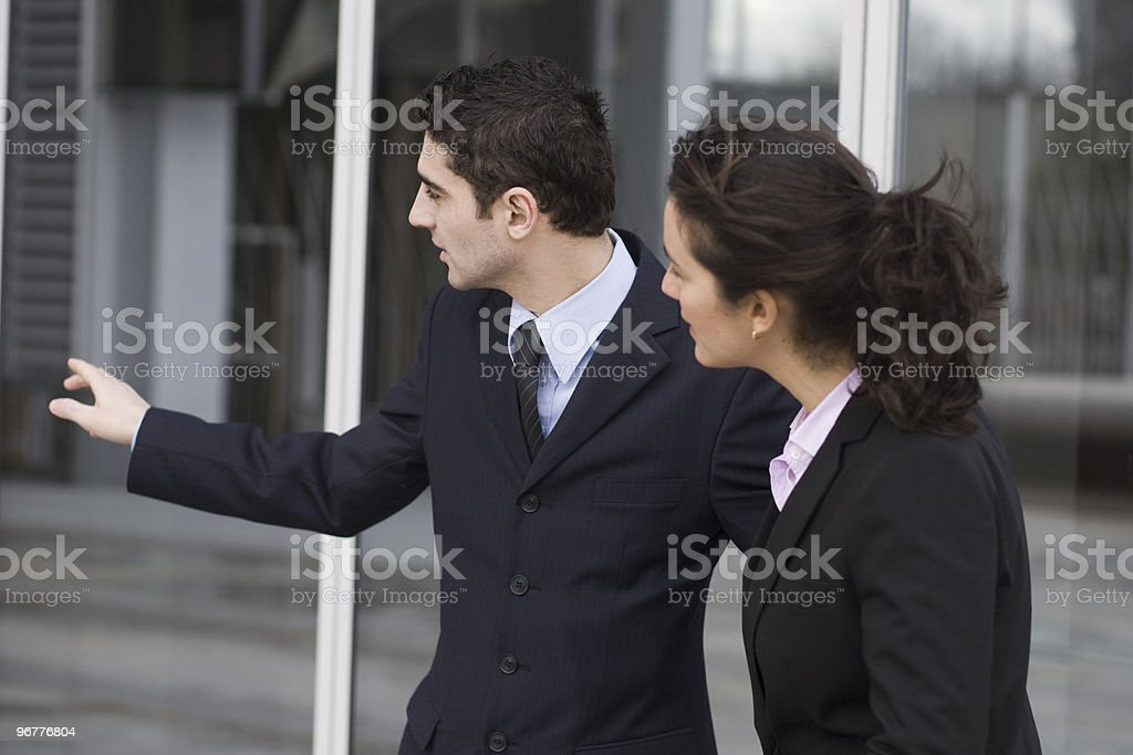 Businessman showing the way royalty-free stock photo