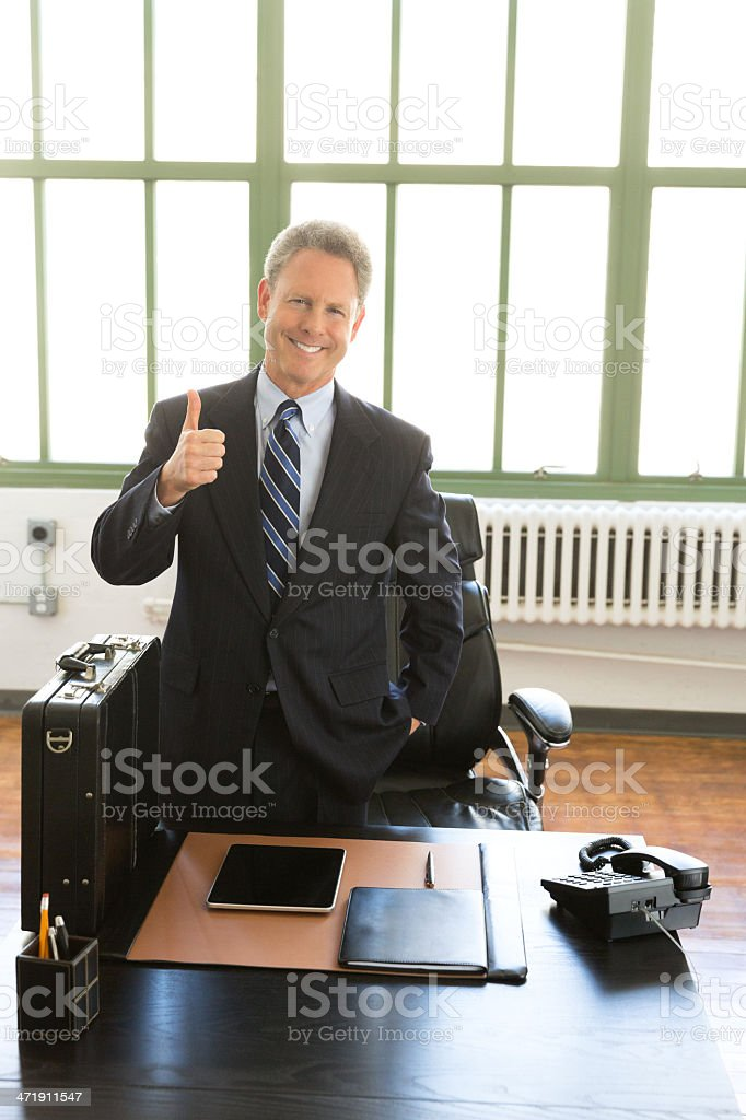 Businessman Showing Thumb Up royalty-free stock photo