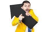businessman shows your possible profit