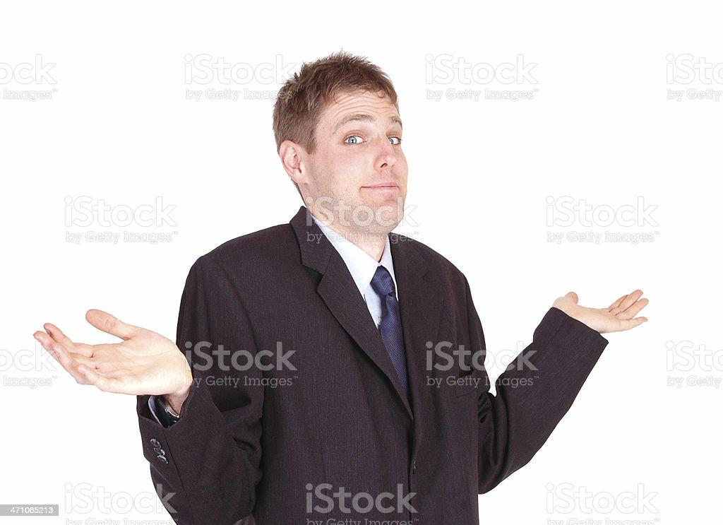 Businessman Shrugging stock photo