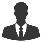 Businessman silhouette as avatar or default profile picture