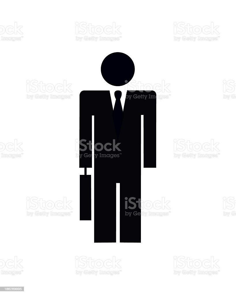 Businessman Silhouette royalty-free stock photo