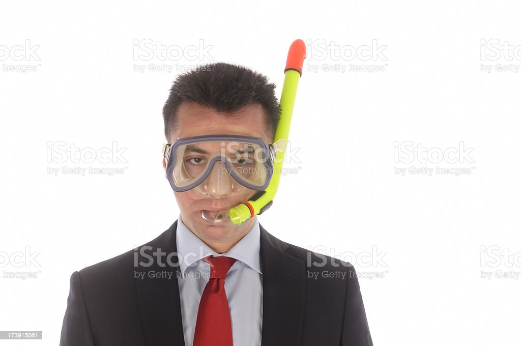 Businessman Sinking royalty-free stock photo