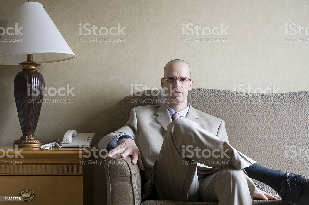 Businessman Sitting on the Sofa royalty-free stock photo