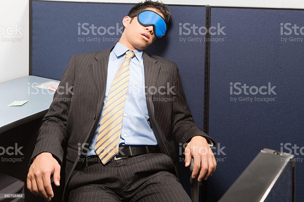 Businessman sleeping stock photo