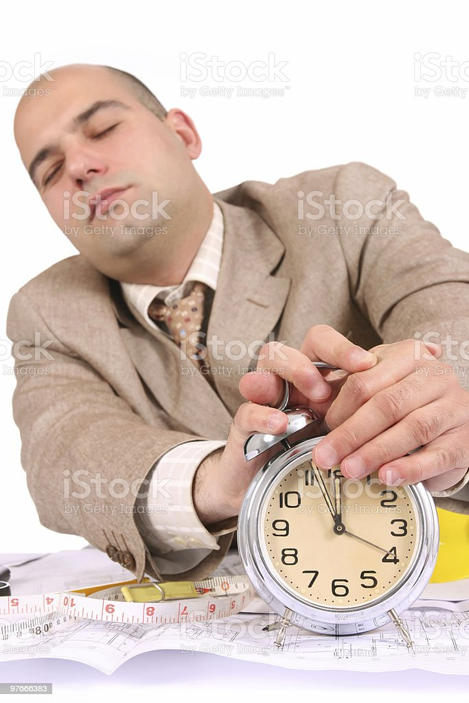 businessman sleepy royalty-free stock photo