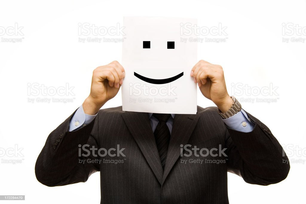 Businessman smiley face royalty-free stock photo