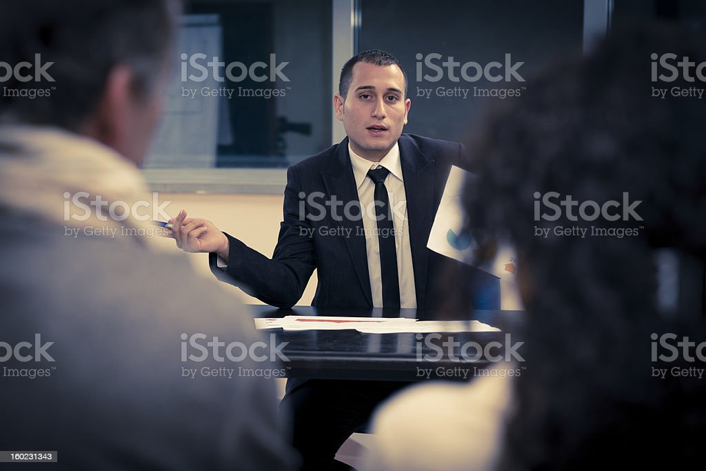 Businessman speaking royalty-free stock photo