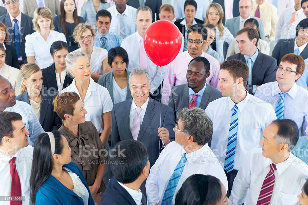 Businessman Standing out from the Crowd. royalty-free stock photo