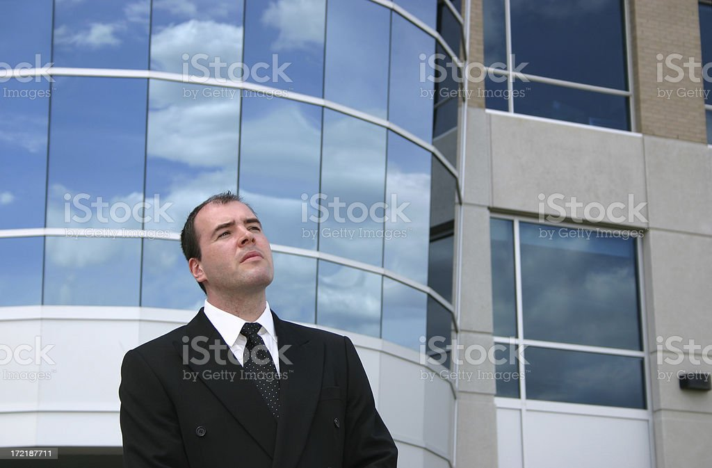 Businessman Standing Outside Office royalty-free stock photo