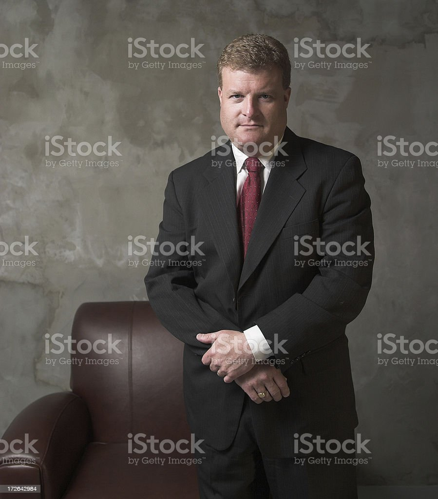 Businessman - Standing (arms folded) royalty-free stock photo