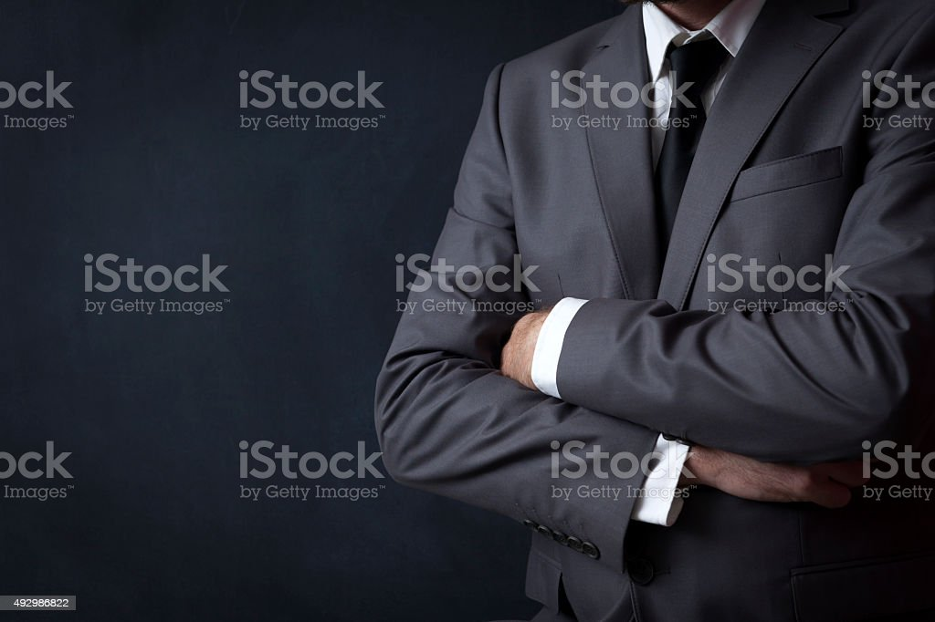 Businessman Standing stock photo