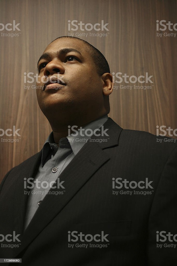 Businessman staring in the Distance royalty-free stock photo