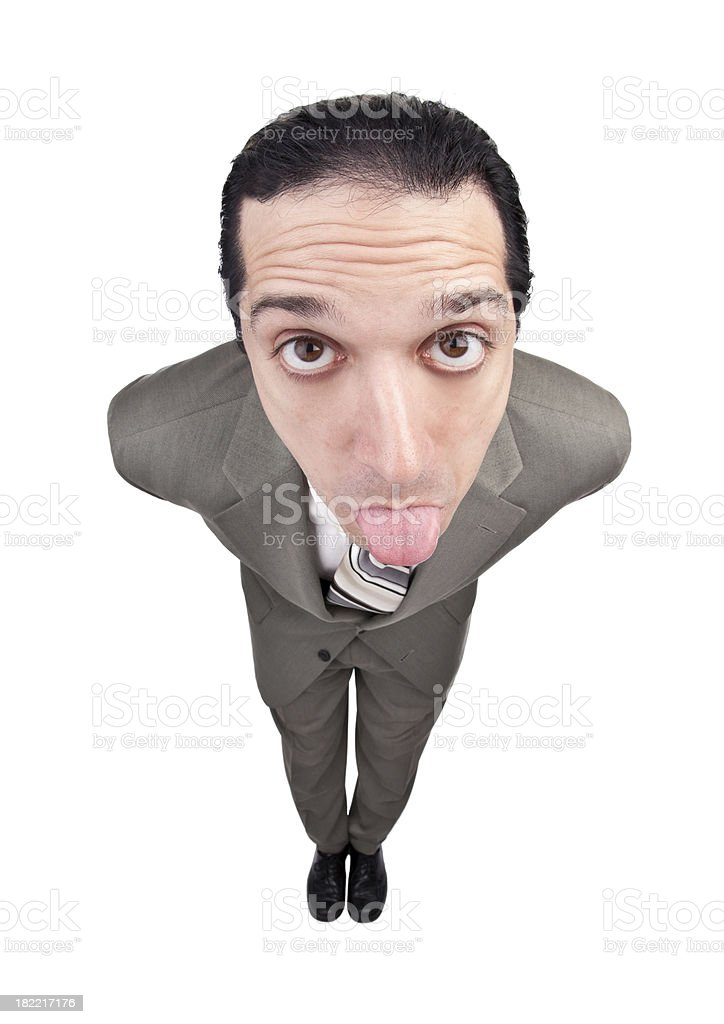 Businessman Sticking Out His Tongue royalty-free stock photo