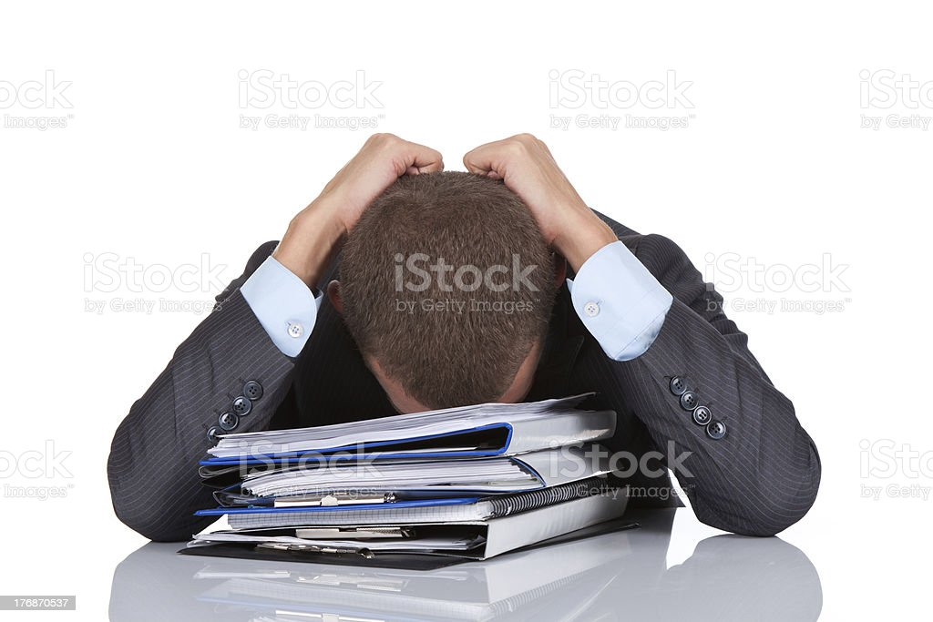 Businessman stress royalty-free stock photo