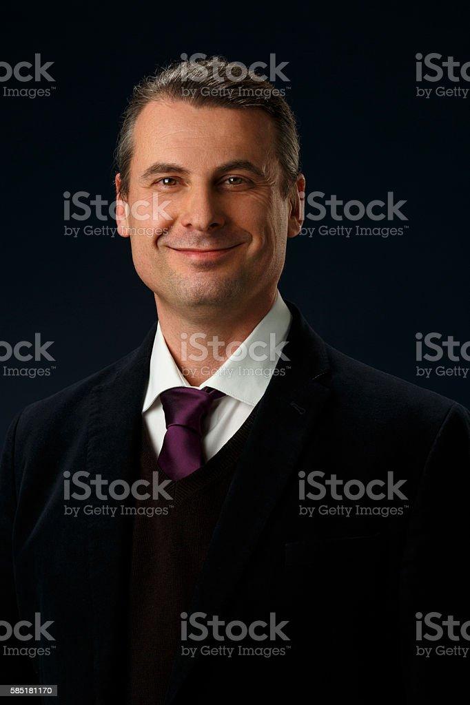 Businessman  Studio portrait of man  Real people stock photo