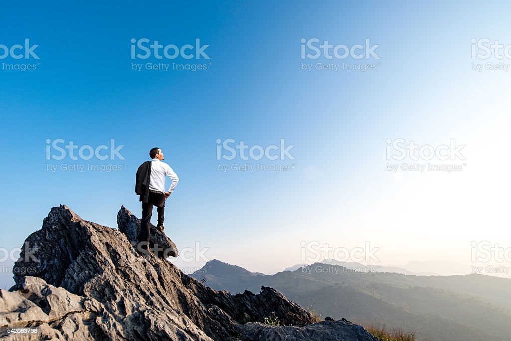 businessman success stock photo