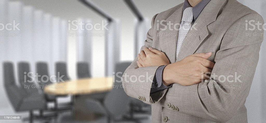 businessman success with his board room royalty-free stock photo