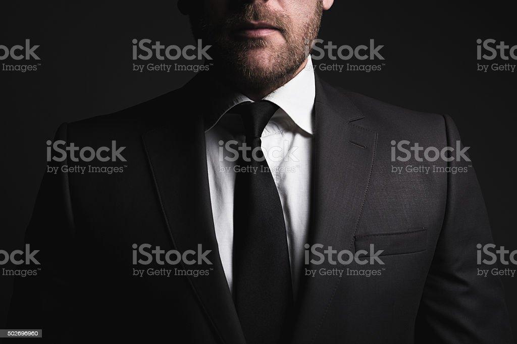 Businessman suit stock photo