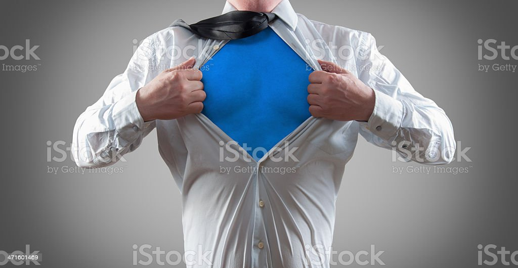 Businessman super hero royalty-free stock photo