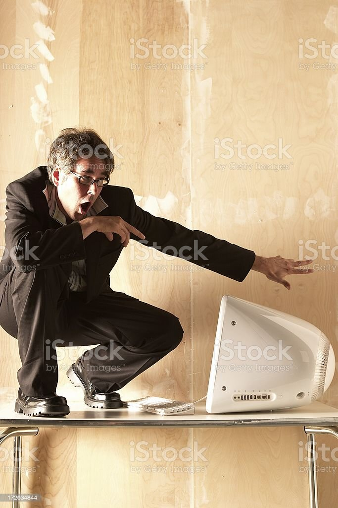 Businessman Surfin' the Net IV royalty-free stock photo