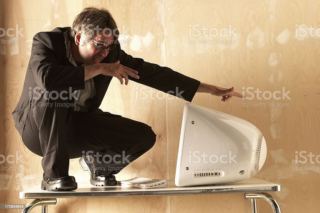 Businessman Surfin' the Net V royalty-free stock photo