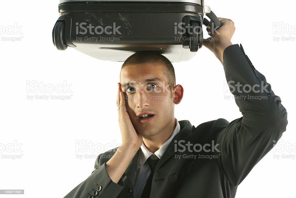 Businessman surprised royalty-free stock photo
