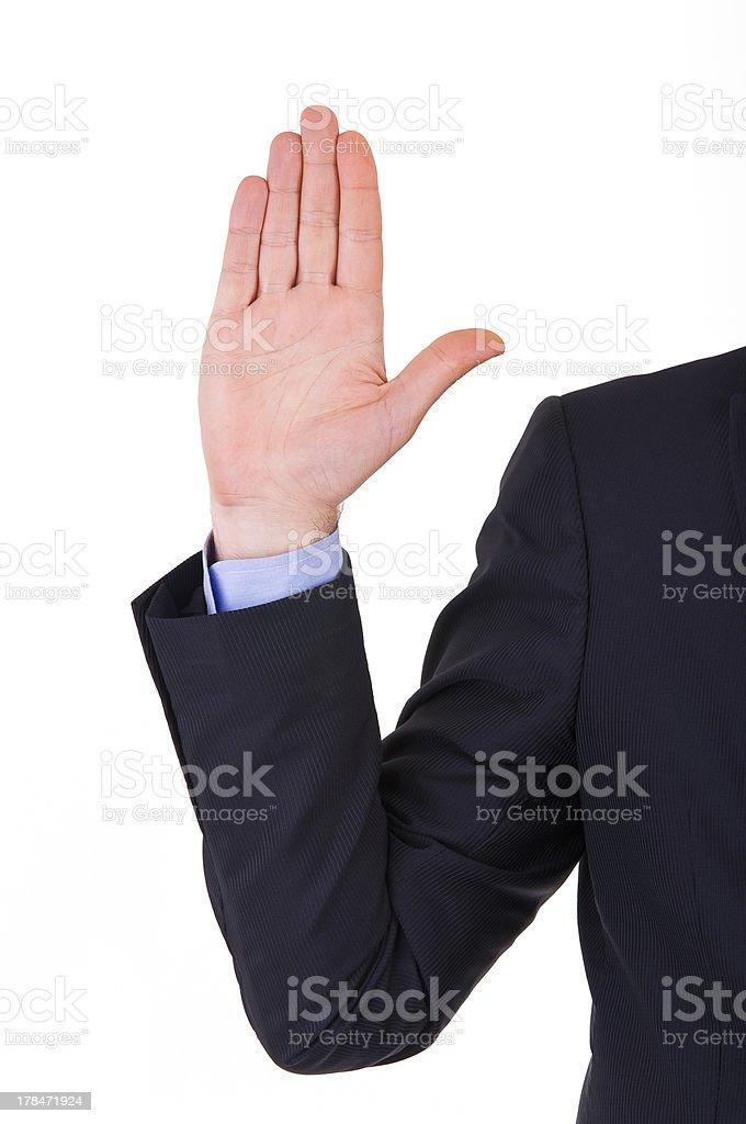 Businessman taking oath. royalty-free stock photo