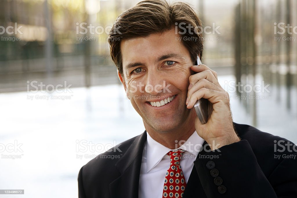 businessman talking on cellphone royalty-free stock photo