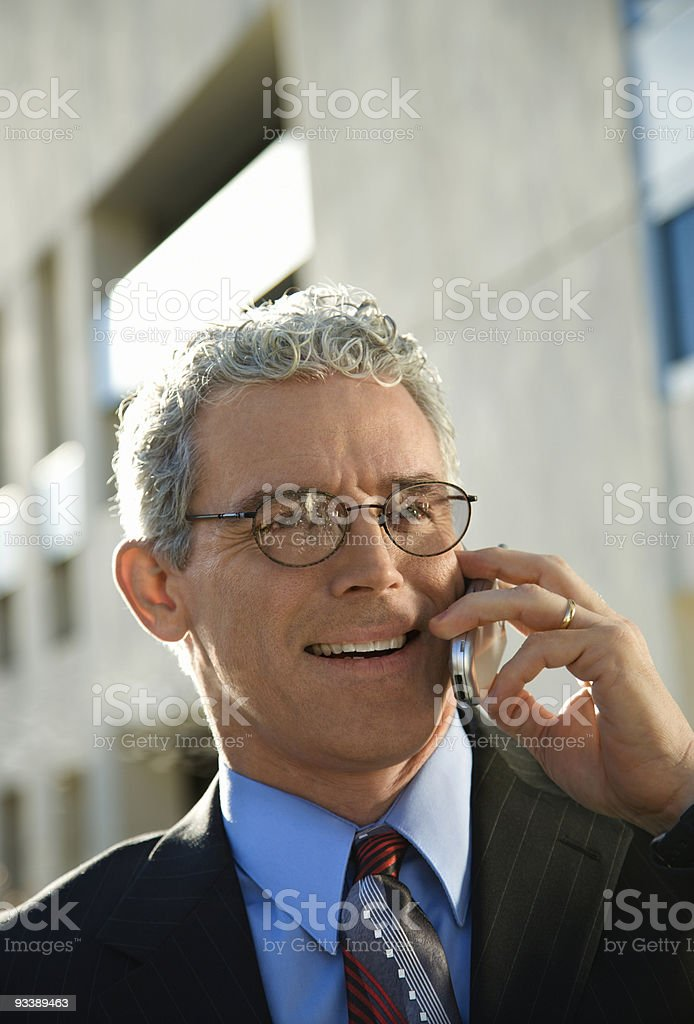 Businessman talking on cellphone. royalty-free stock photo