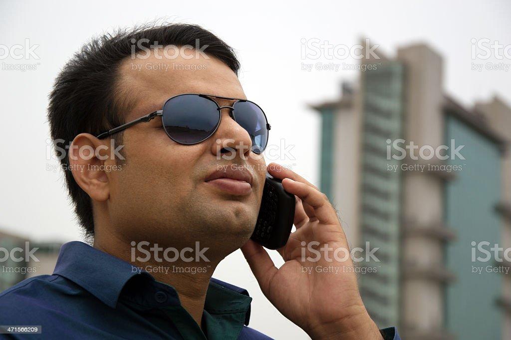 Businessman Talking on Smartphone royalty-free stock photo