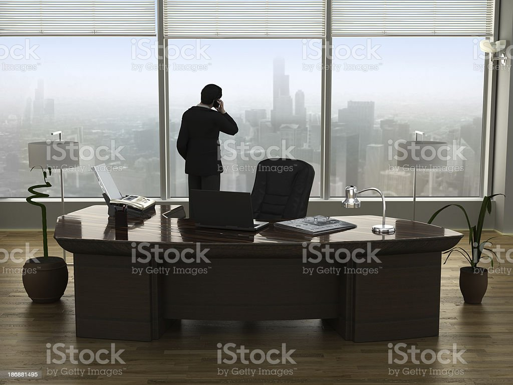 Businessman talking on the phone royalty-free stock photo