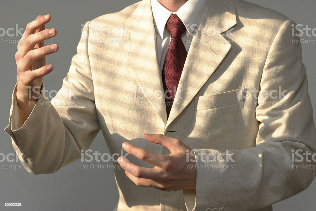 Businessman talking royalty-free stock photo