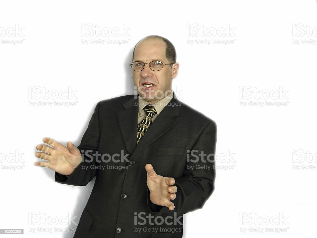 Businessman Talking royalty-free stock photo