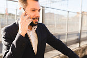 Businessman talking to the cellphone