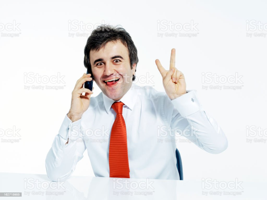 Businessman talking with the phone royalty-free stock photo