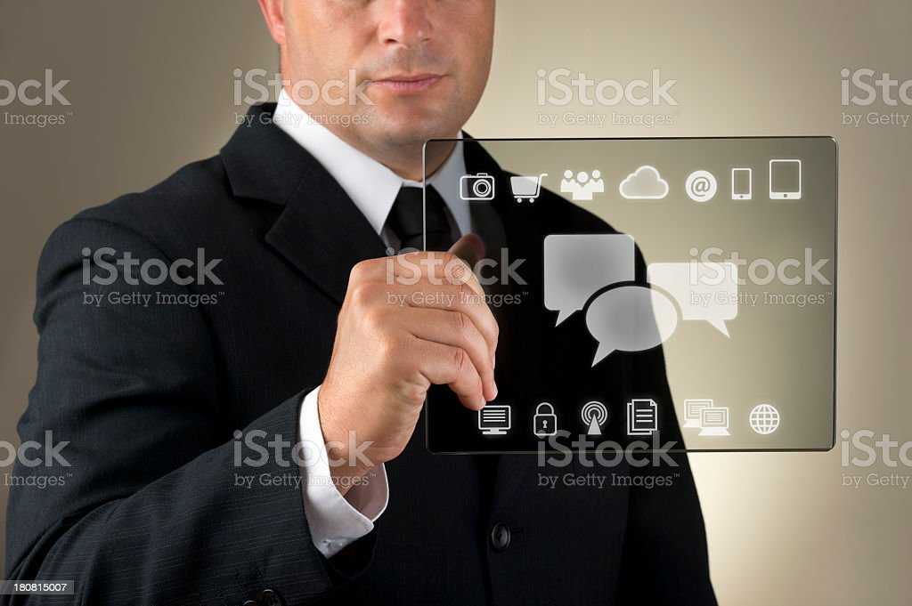 Businessman text messaging royalty-free stock photo