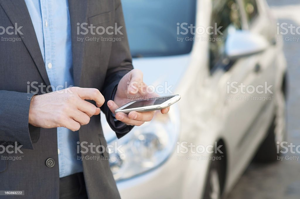 businessman texting royalty-free stock photo