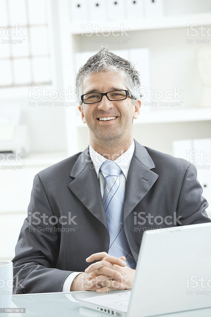 Businessman thinking royalty-free stock photo