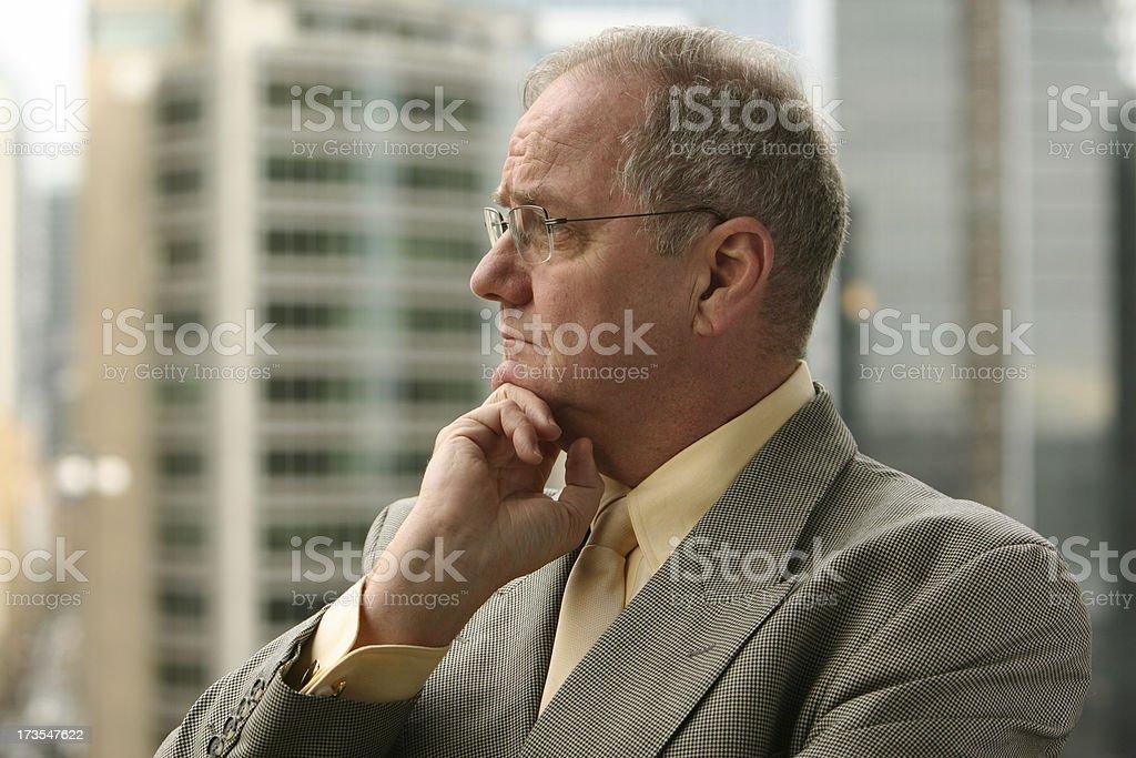 Businessman thinking. royalty-free stock photo