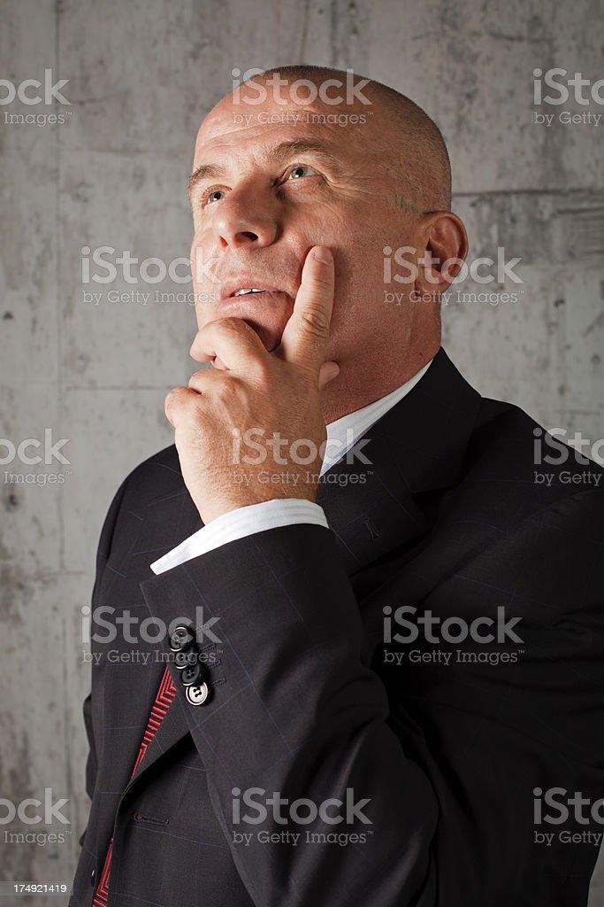 Businessman Thinking royalty-free stock photo