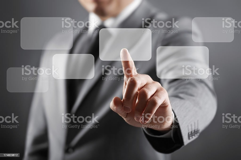 Businessman Touch screen concept royalty-free stock photo