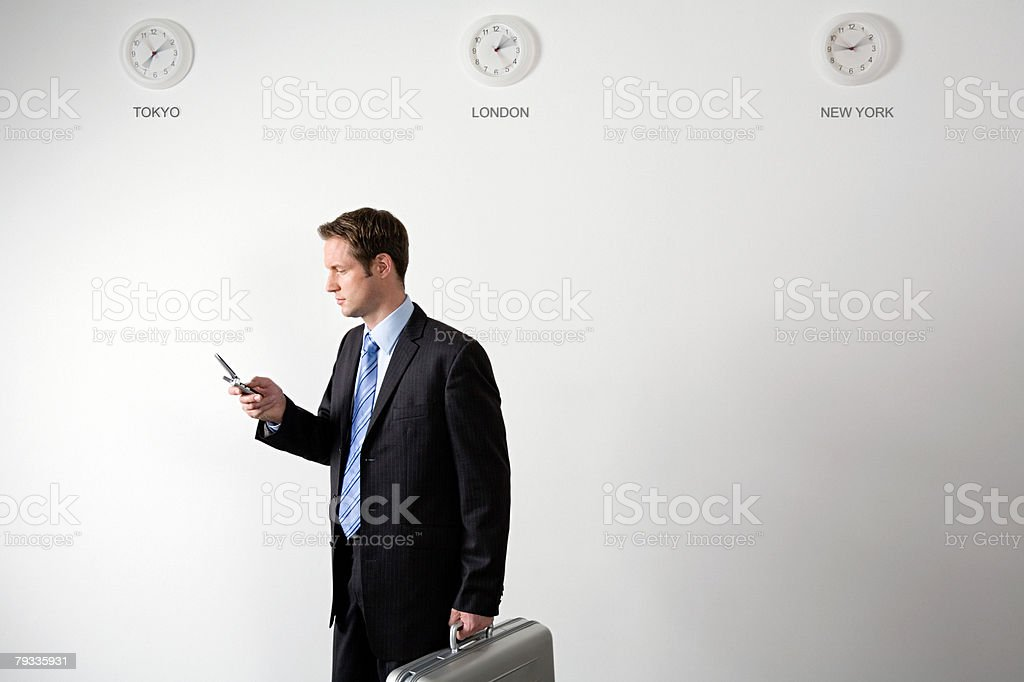 Businessman travelling stock photo