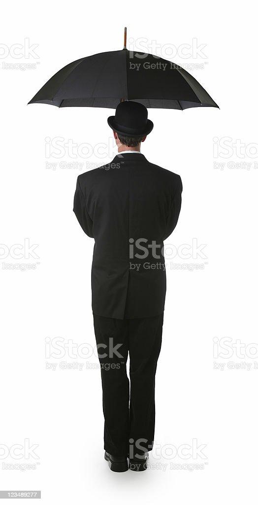 businessman umbrella stock photo