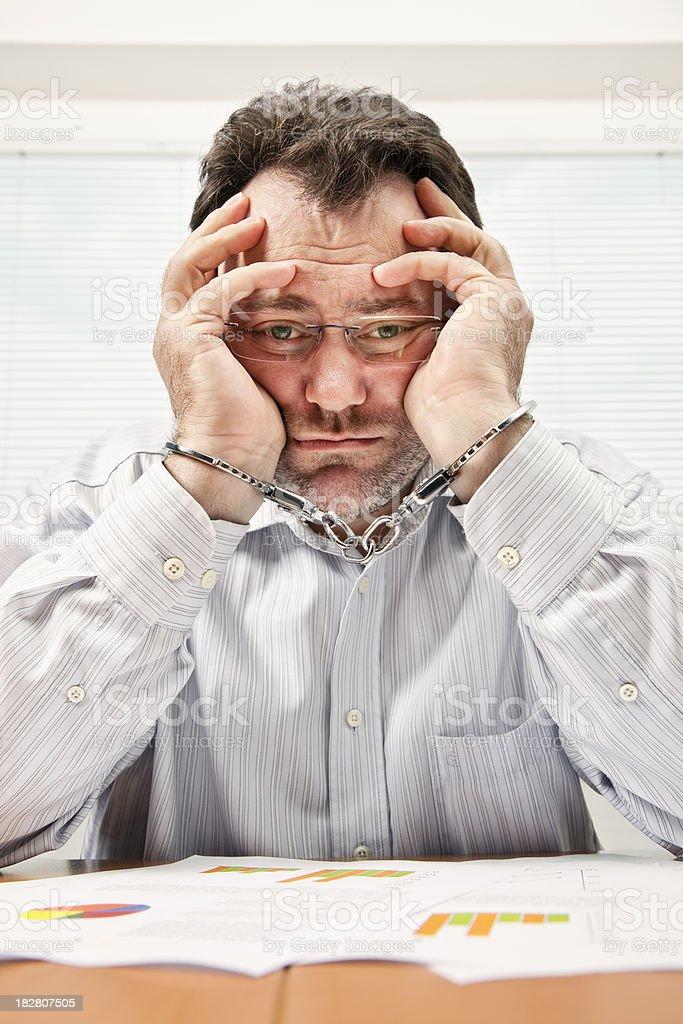 Businessman Under Arrest stock photo
