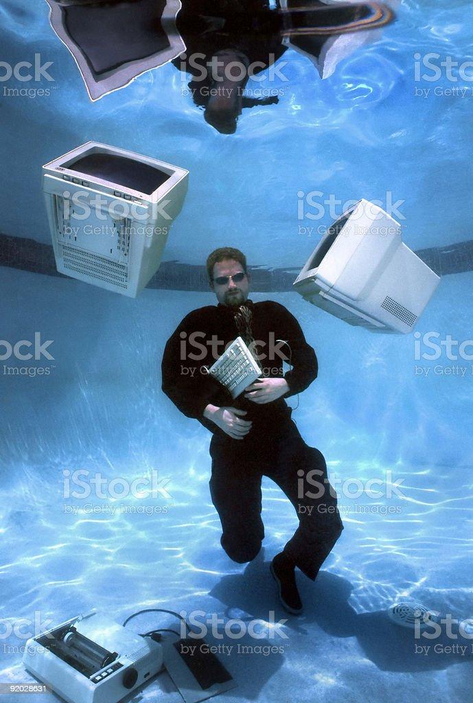 Homme d'affaires sous-marine photo libre de droits
